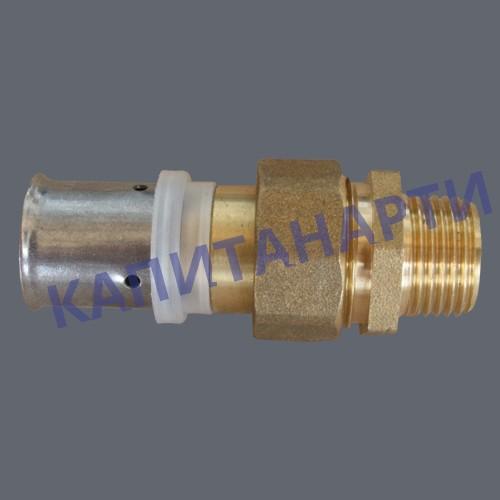 ПРЕСС-Соединение для МП труб с наружной резьбой разъёмное