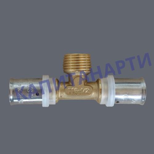 ПРЕСС-Тройник для МП труб с наружной резьбой