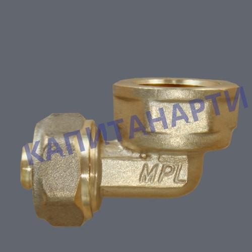 Угольник для МП труб с внутренней резьбой